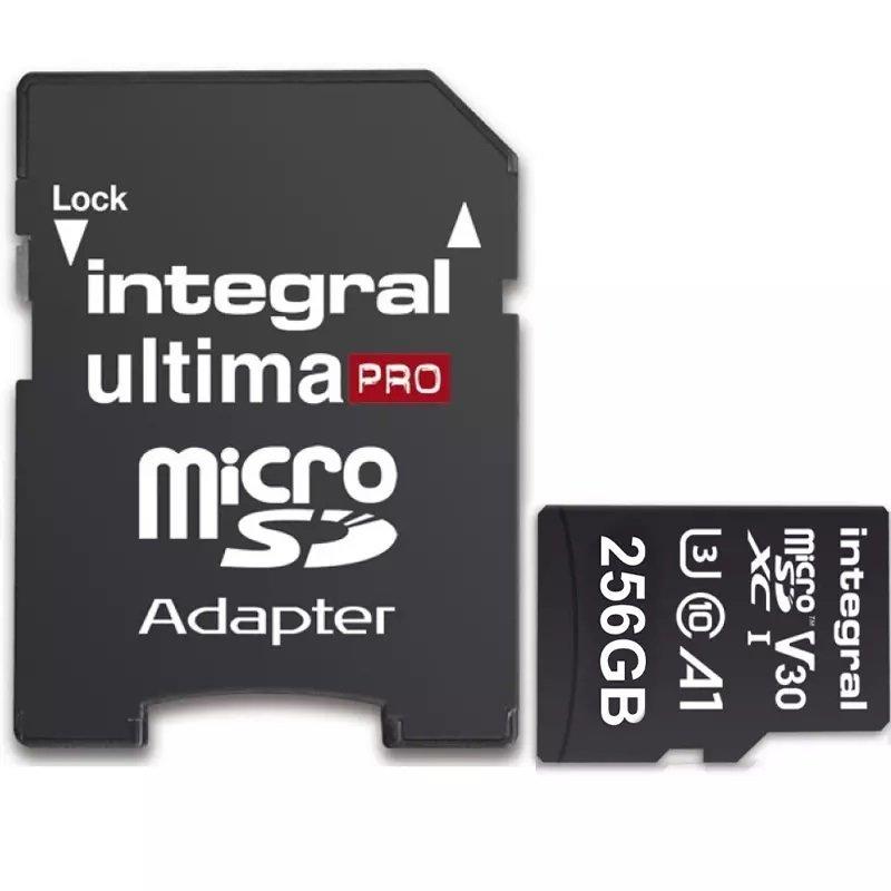 Integral 256GB 256GB microSD UHS-1 U3 V30 A1 Read 100MBs /Write 50MBs