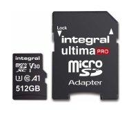 Integral 512GB microSD UHS-1 U3 V30 A1 Read 100MBs /Write 50MBs