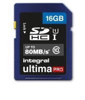 Integral 16GB SD Class 10 UHS-1 U1 up to 80MBs
