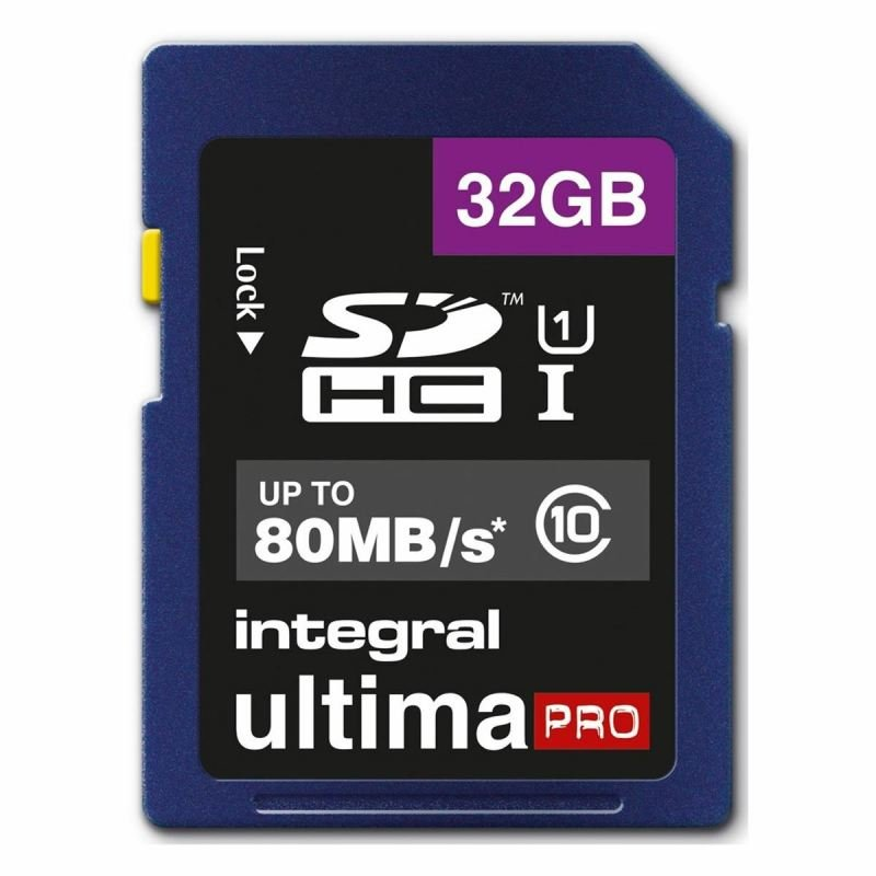 Integral 32GB SD Class 10 UHS-1 U1 up to 80MBs
