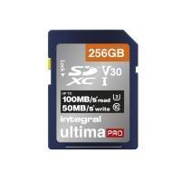 Integral 256GB 256GB SD UHS-1 U3 V30 Read 100MBs /Write 50MBs