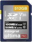 Integral 512GB SD UHS-1 U3 V30 Read 100MBs /Write 50MBs