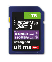 Integral 1TB SD UHS-1 U3 V30 Read 180MBs /Write 150MBs