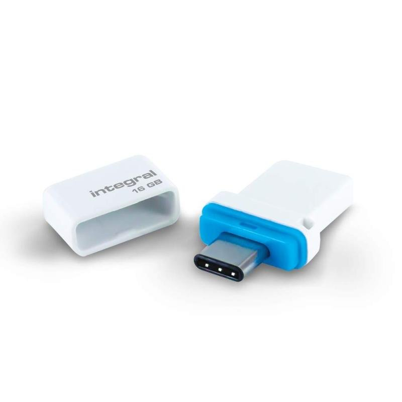 Integral 16GB Fusion Dual USB-C & USB 3.0 (Read/Write 180/25 MBs)