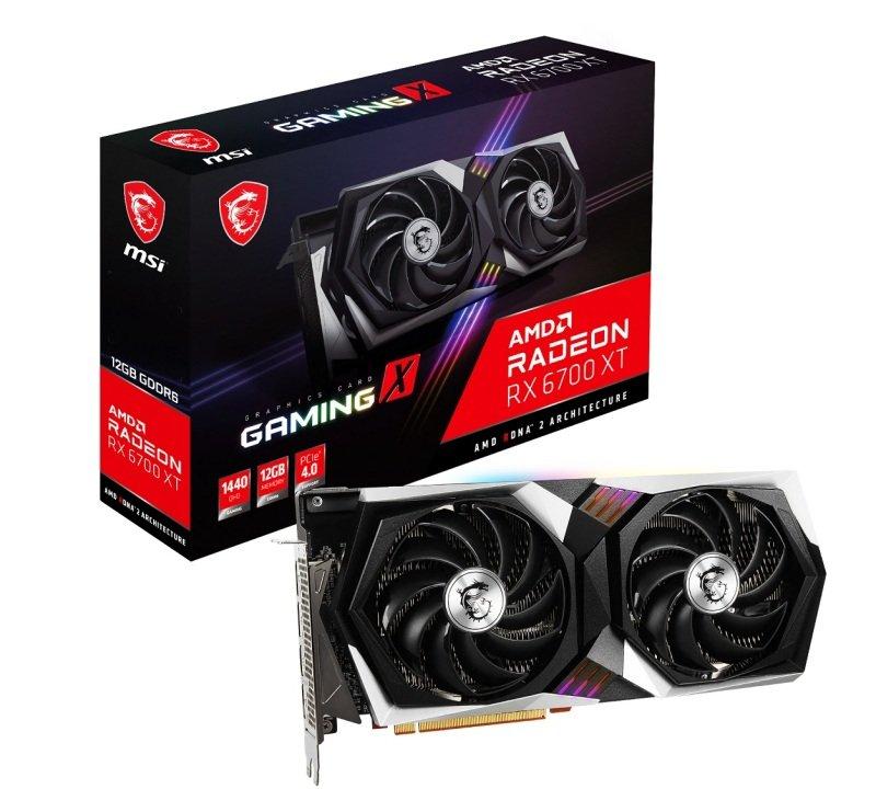 MSI Radeon RX 6700 XT GAMING X 12GB Graphics Card