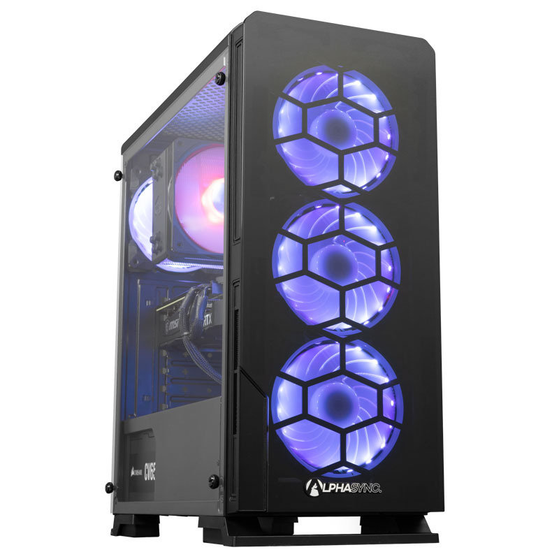 AlphaSync RTX 3070 Core i5 16GB RAM 1TB HDD 480GB SSD Gaming Desktop PC