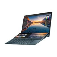 """ASUS Zenbook Duo (Celestial Blue) Core i7 16GB 512GB SSD MX450 14"""" Win10 Home  Dual Touchscreen Laptop (Ships with Stylus, Pen, Sleeve and Stand)"""