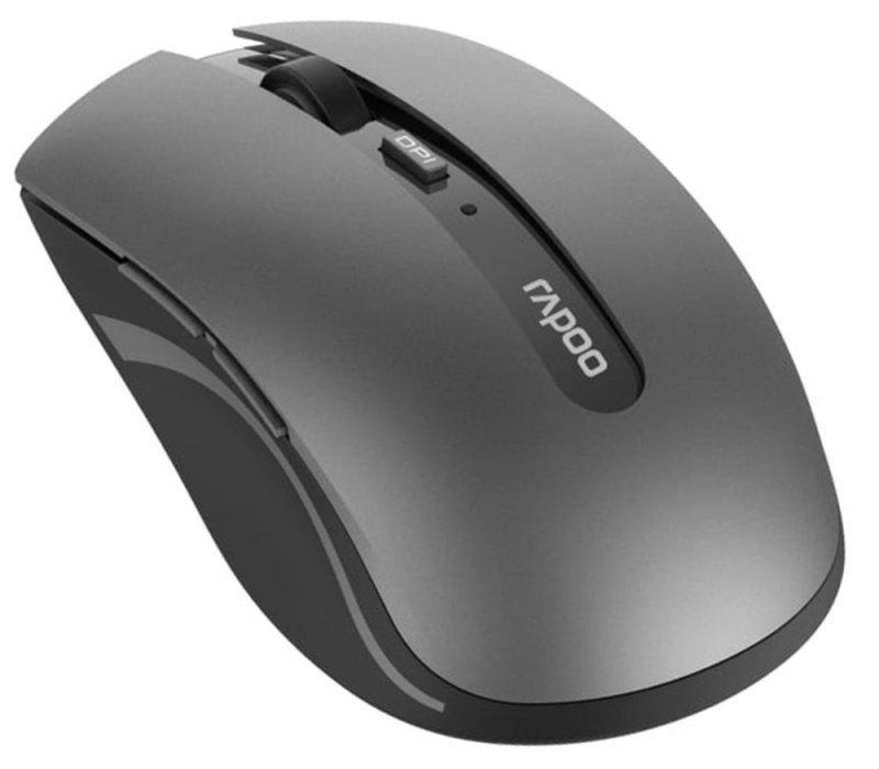 Rapoo 7200M Multi Device Wireless Mouse, Dark Grey