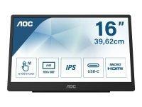 AOC 16T2 16'' Full HD Touchscreen Monitor