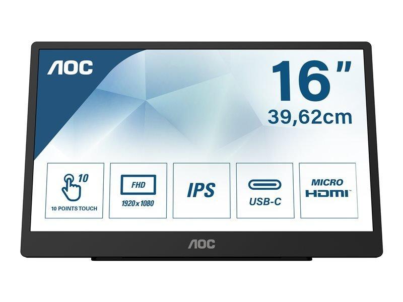 Image of AOC 16T2 16'' Full HD Touchscreen Monitor