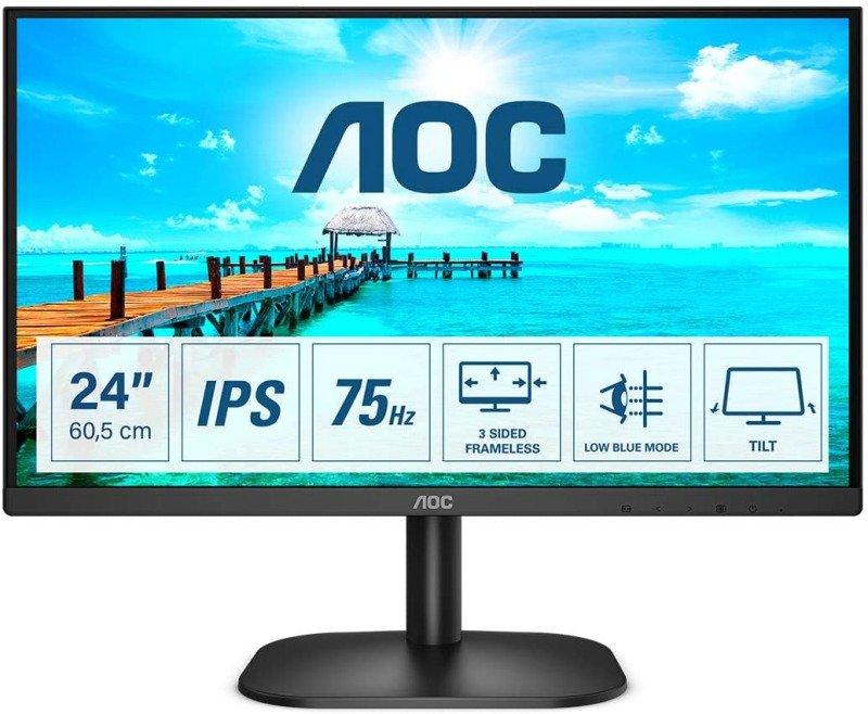 Image of AOC 24B2XDA 24'' Full HD LED Monitor