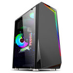 Neutron Lab Vanquish 3401B Tempered Glass PC Case
