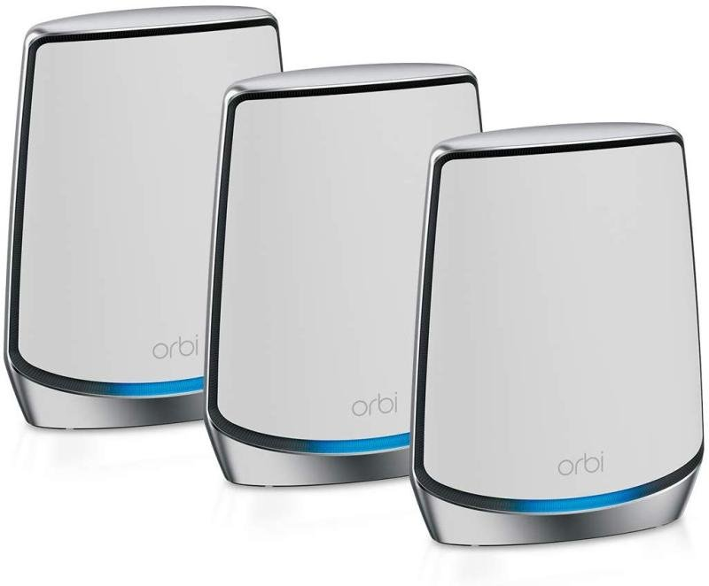 EXDISPLAY NETGEAR Orbi WiFi 6 Mesh System AX6000 (RBK853)   WiFi 6 Router with 2 Satellite Extenders