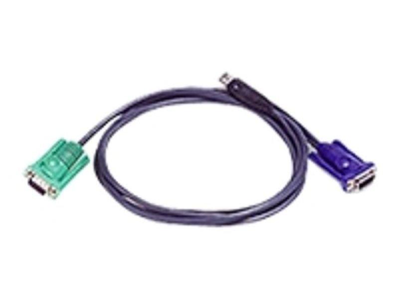 ATEN Micro-Lite 2L-5203U Keyboard / video / mouse (KVM) Cable 3m