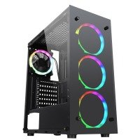 Neutron Lab Quartz K13 ARGB Gaming Case - Tempered Glass