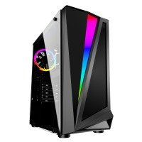 Neutron lab Advantage 340 R Tempered Glass RGB PC case - Black