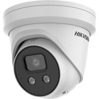 HikVision 4K 8MP AcuSense Fixed Turret Network Camera - 4mm White