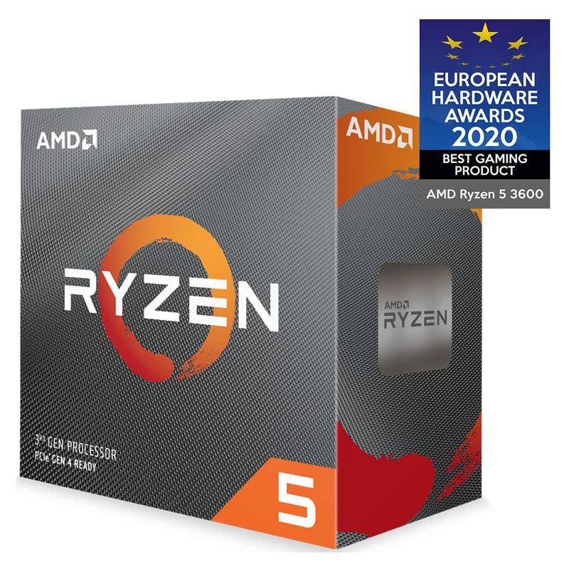 EXDISPLAY AMD Ryzen 5 3600 AM4 CPU/ Processor with Wraith Stealth Cooler