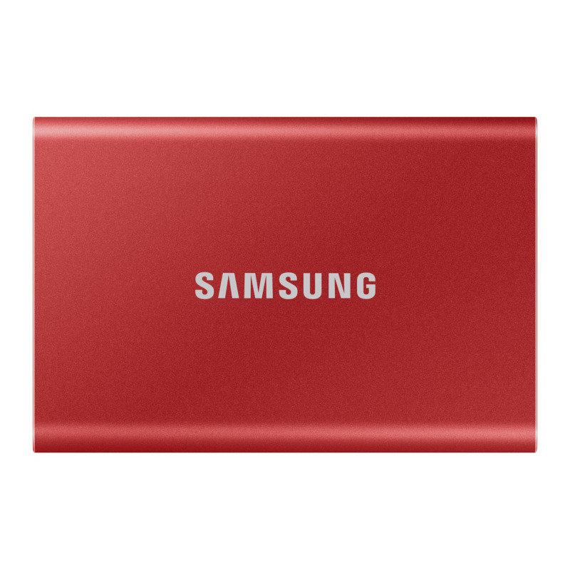 EXDISPLAY Samsung T7 Portable SSD - 1 TB - USB 3.2 Gen.2 External SSD Red