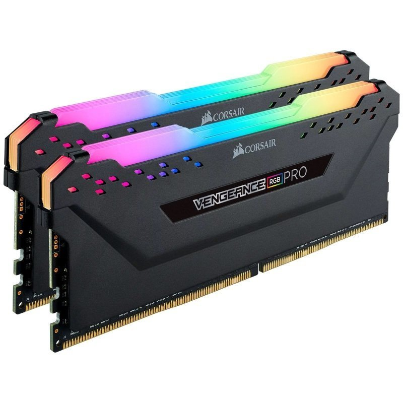 Corsair Vengeance RGB Pro 16GB Kit (2 x 8GB), DDR4, 3200MHz (PC4-25600), CL16, XMP 2.0, Ryzen Optimised, DIMM Memory