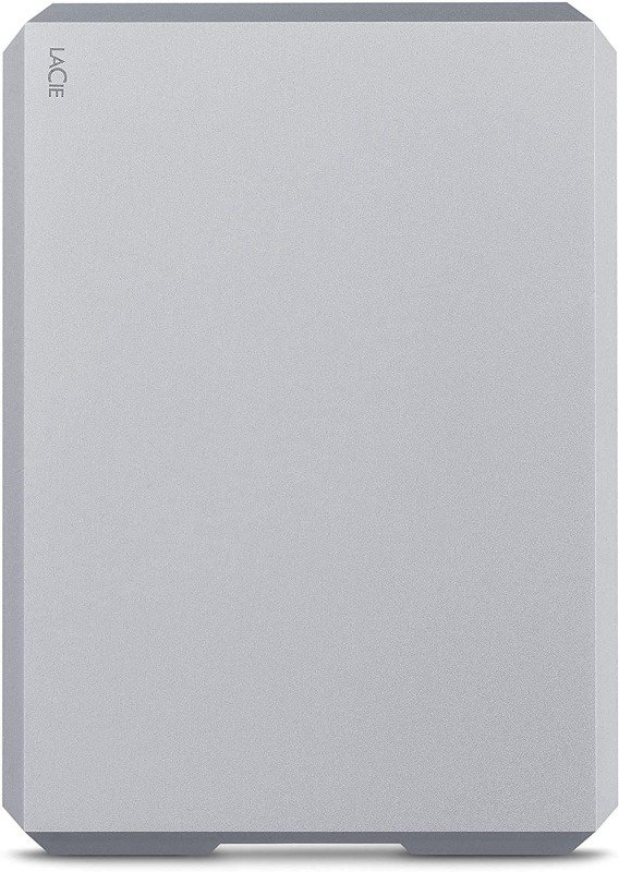 Image of LaCie 4TB Mobile Drive USB-C + USB 3.0 Portable External Hard Drive for PC and Mac (Moon Silver)