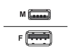 Belkin USB Extension Cable, USBA-USBA (Charcoal), 4.8m