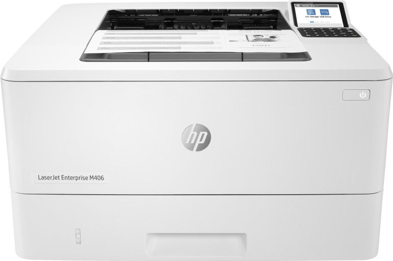 HP LaserJet Enterprise M406dn A4 Mono Laser Printer - Available on HP Print at Your Service