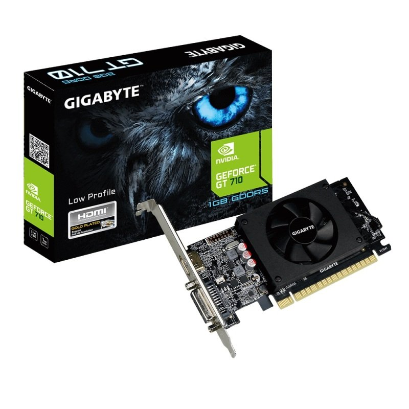 EXDISPLAY Gigabyte GeForce GT 710 1GB Low Profile Graphics Card