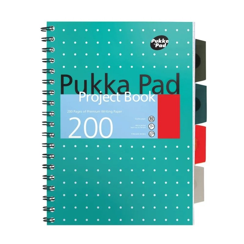 Pukka Metallic Project Book A4 Plus Pk3