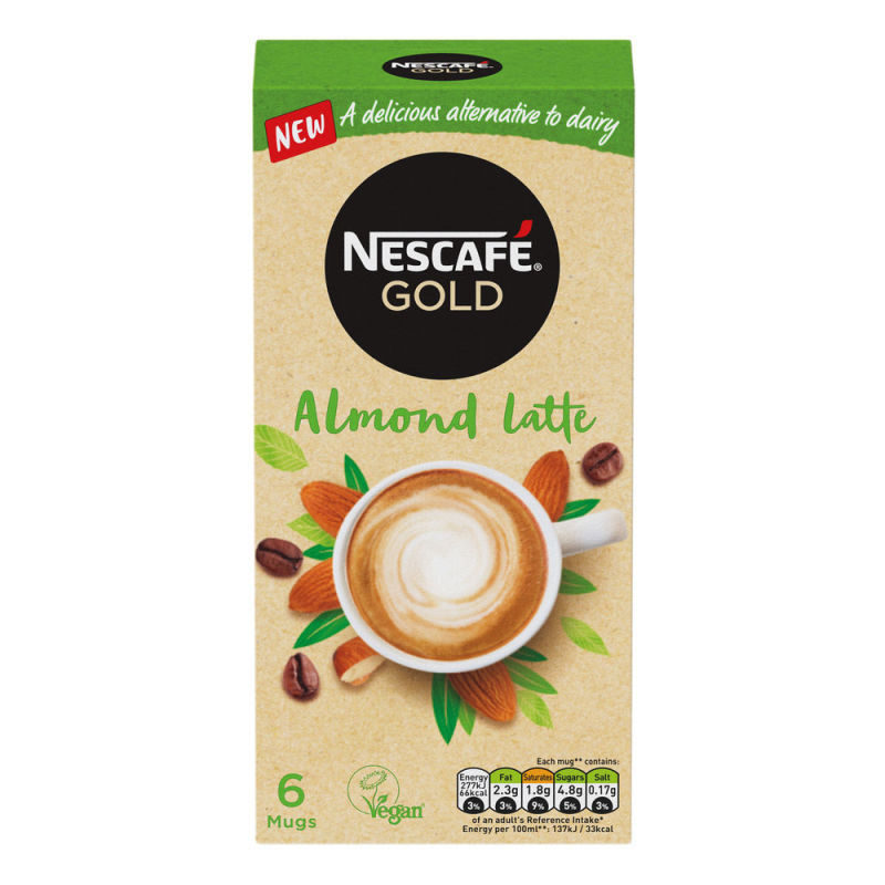 Nescafe Gold Almond Latte 16gsachet Pk30