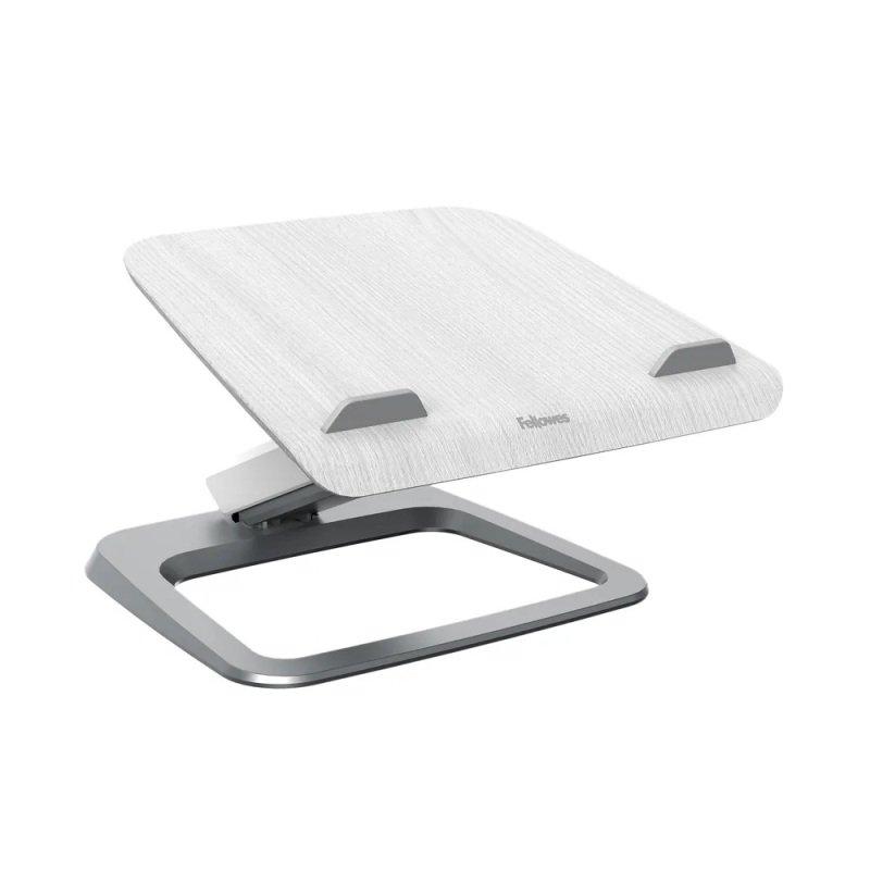 Fellowes Hana Laptop Support Height Adjustable 230V USB Grey 8064401