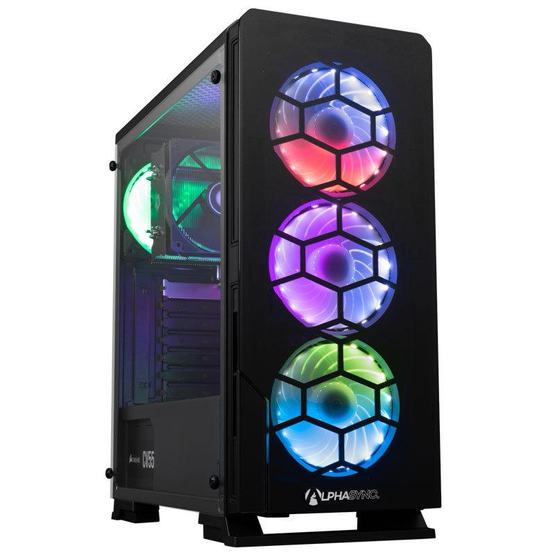 AlphaSync AMD Ryzen 5 Pro 8GB RAM 240GB SSD 1TB HDD Win10 Home Gaming Desktop PC