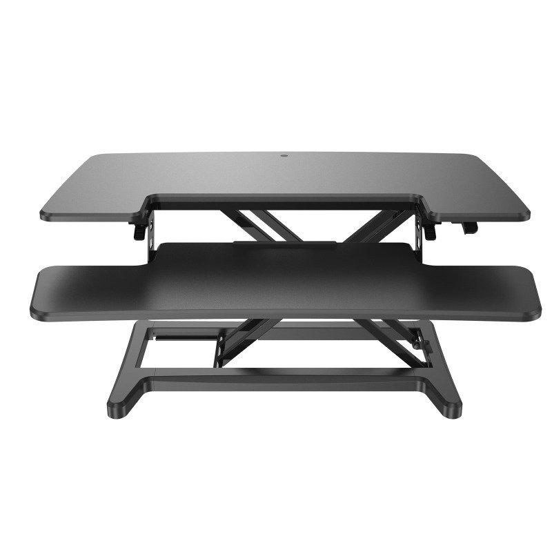 Sora height adjustable sit stand workstation for desks - Black