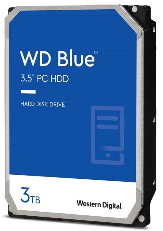 """WD Blue 3TB 3.5"""" SATA Desktop Hard Drive - 5400rpm, 256MB Cache"""