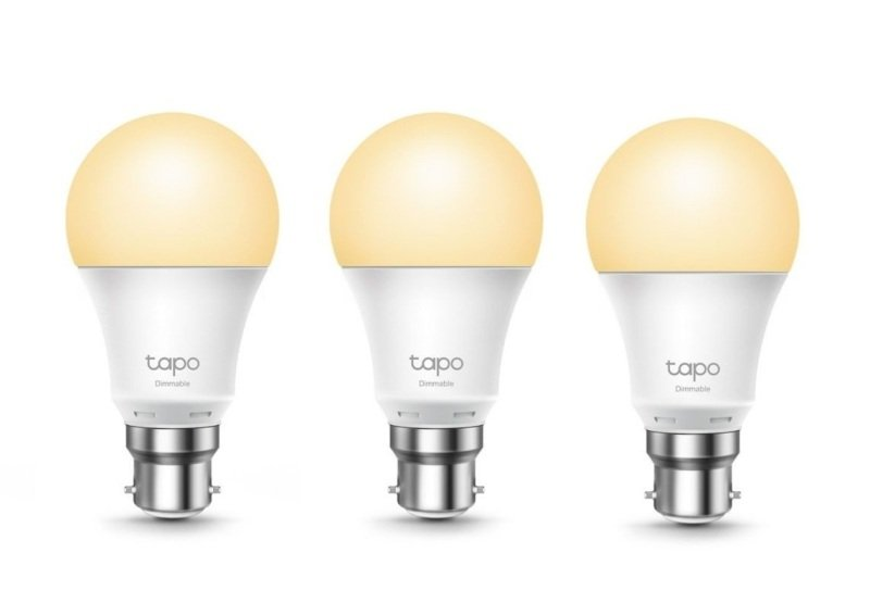 TP-Link Tapo 3 Pack L510B Smart Wi-Fi B22 Light Bulb - Works with Alexa and Google Assistant