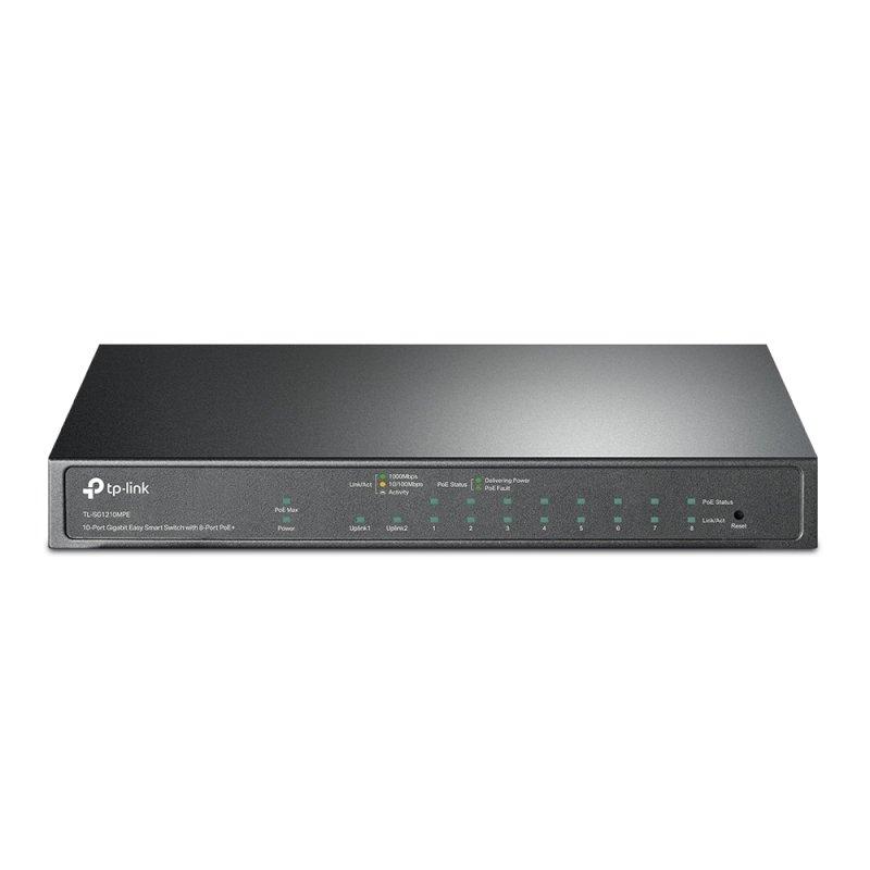 TP-Link TL-SG1210MPE 10-Port Gigabit Easy Smart Switch with 8-Port PoE+
