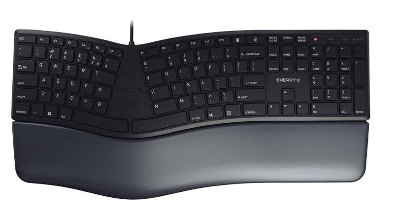 CHERRY KC 4500 ERGO Corded Ergonomic Keyboard Black