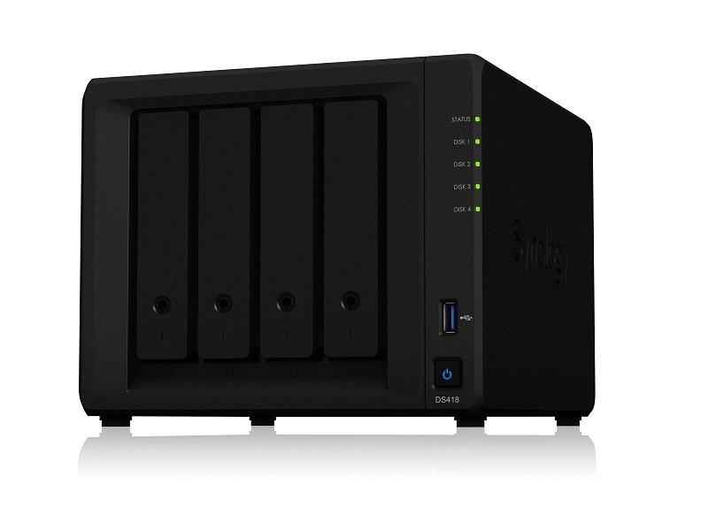 Synology DS418 16TB (4 x 4TB SGT-IW) 4 Bay Desktop NAS Unit