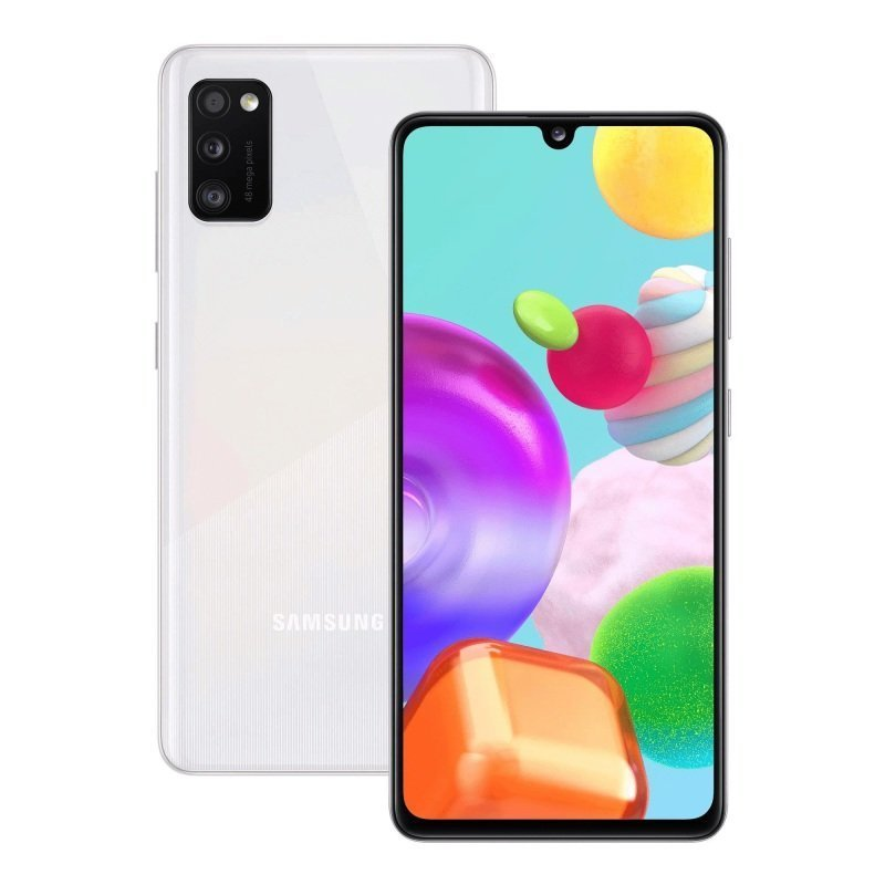 "Samsung Galaxy A41 6.1"" 64GB Smartphone - Prism Crush White"