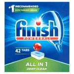Finish All In One Dishwasher Tablets (pack 42) 1002100