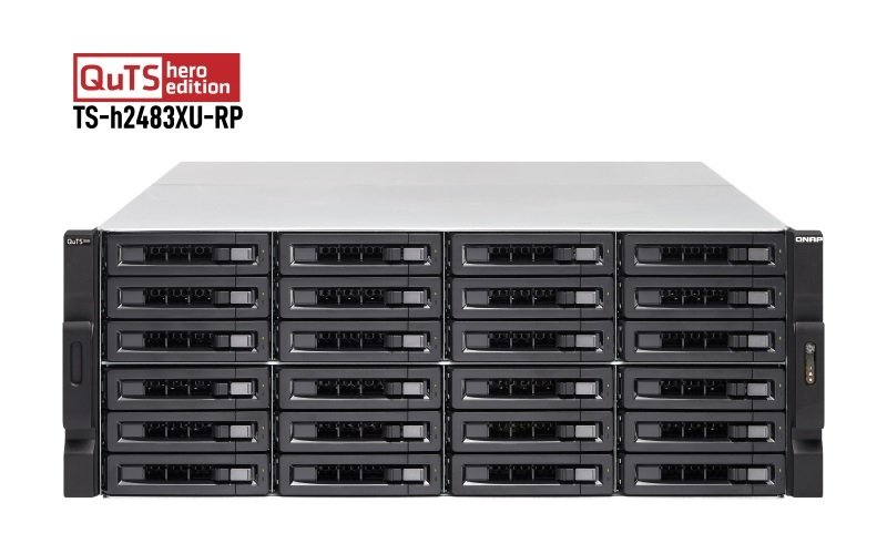 QNAP TS-h2483XU-RP-E2236-128G 24 Bay Rack Enclosure with 128GB RAM