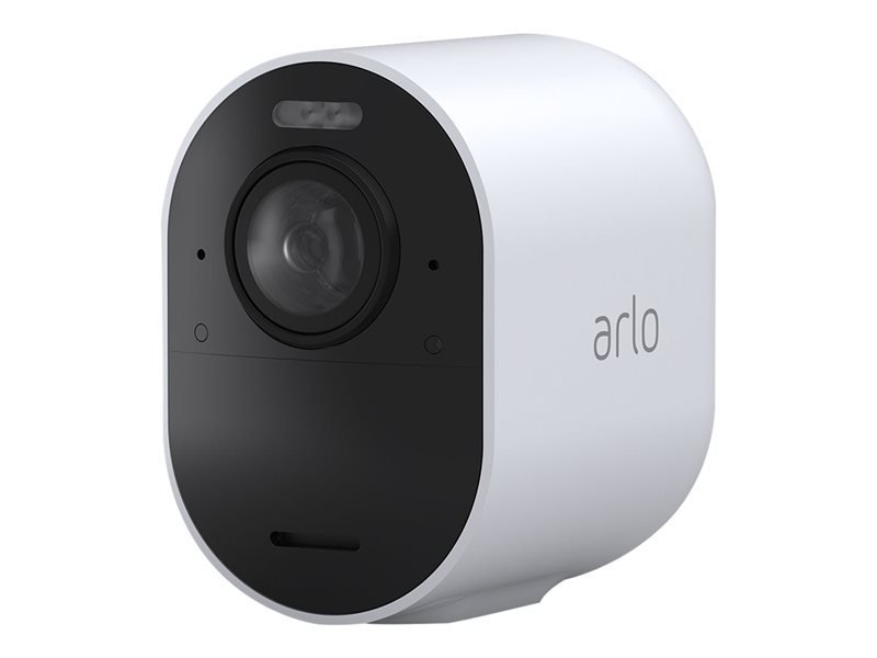 Image of Arlo Ultra2 Wireless Home Security Camera System CCTV, 6-month battery life, WiFi, Alarm, Colour Night Vision, Indoor or Outdoor, 4K UHD, 2-Way Audio, Spotlight, 180° View, Camera Only, VMC5040