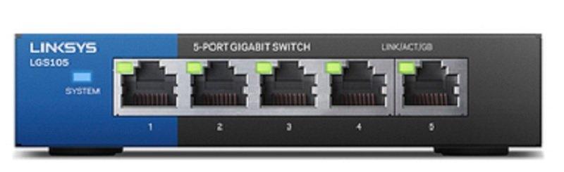 Linksys LGS105 5-Port Business Desktop Gigabit Switch
