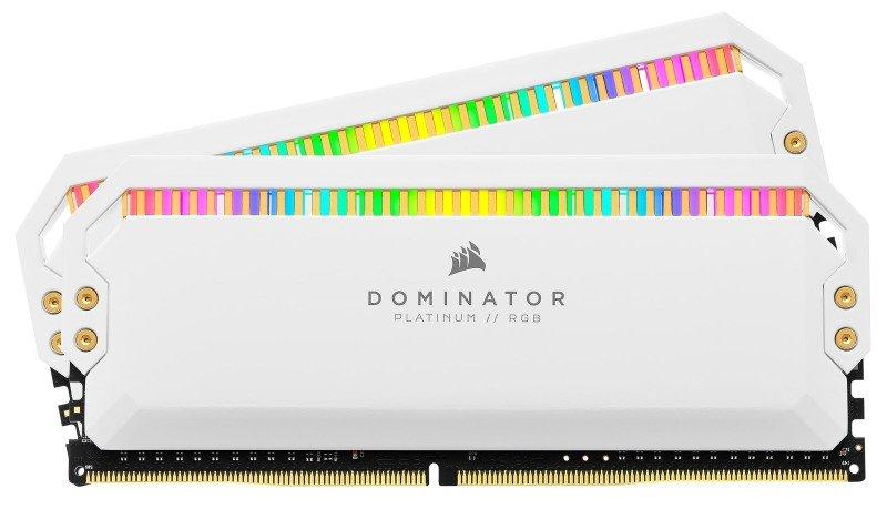 CORSAIR DOMINATOR PLATINUM RGB 32GB (2x16GB) DDR4 3200 (PC4-25600) C16 1.35V Desktop Memory - White