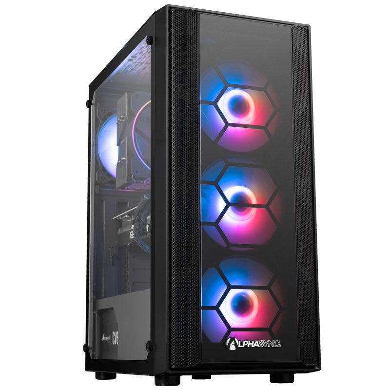 AlphaSync RTX 3070 AMD Ryzen 7 16GB RAM 1TB HDD 500GB SSD Gaming Desktop PC