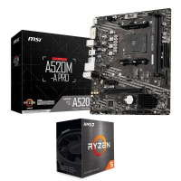 MSI AMD A520M-A PRO MATX Motherboard and AMD Ryzen 5 5600X AM4 Processor
