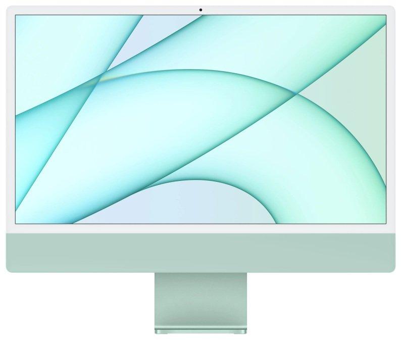 "Image of Apple iMac 4.5K 24"" Retina Display M1 Chip 8 Core 8GB RAM 512GB SSD 8 Core GPU - Green - MGPJ3B/A"