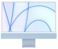 "Apple 24"" iMac with Retina 4.5K Display M1 Chip 8GB RAM 256GB SSD - Blue"