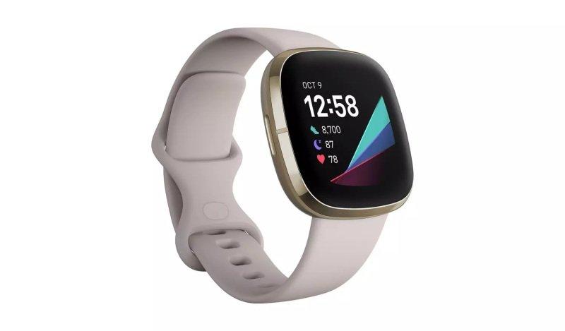 Fitbit Sense Smart Watch - Lunar White & Soft Gold