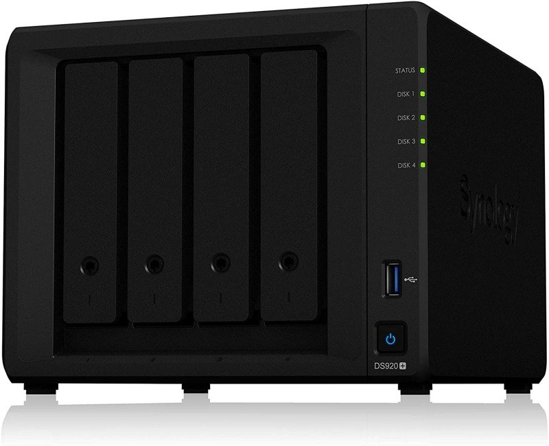 Synology DS920+ 4TB (4 x 1TB) WD Red 4 Bay NAS Enclosure
